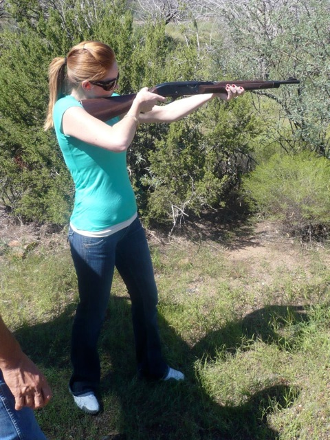 Lindsay West takes aim