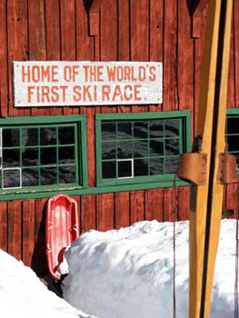 first-ski-race